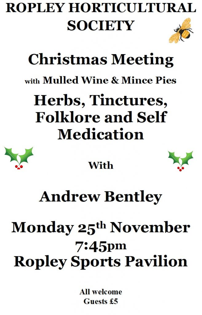 Herbs, Tinctures, Folklore and Self Medication @ Sports Pavilion