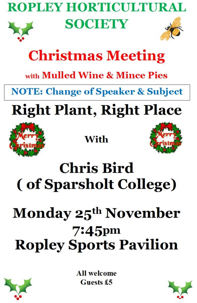 """""""Right Plant, Right Place"""" with Chris Bird @ Sports Pavilion"""
