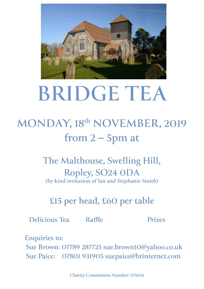 Bridge Tea in aid of the Church Appeal @ The Malthouse, Swelling Hill