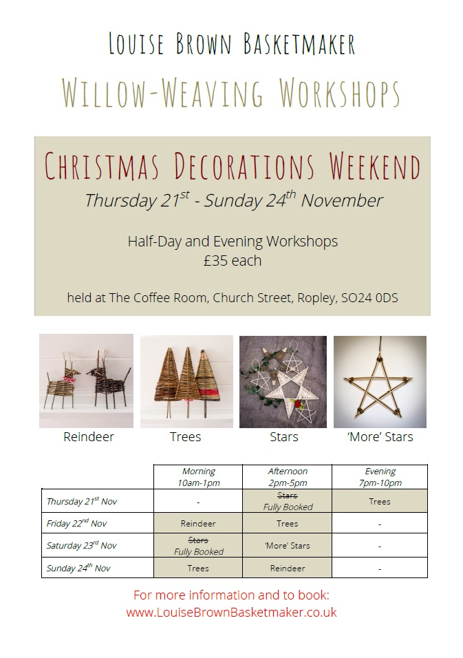 Willow Christmas Decorations Workshop - Christmas Trees @ The Coffee Room