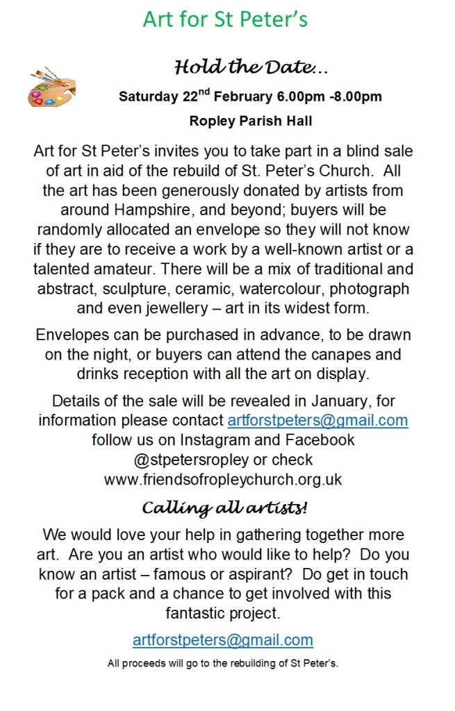 Art for St Peter's @ Parish Hall