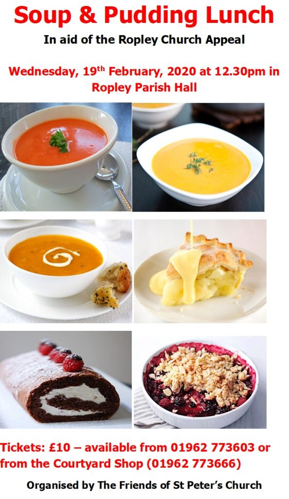 Soup & Pudding Lunch @ Parish Hall
