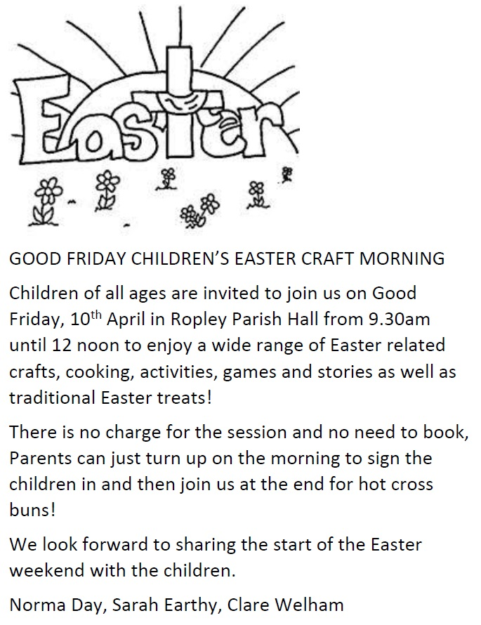 Good Friday Children's Easter Craft Morning @ Parish Hall