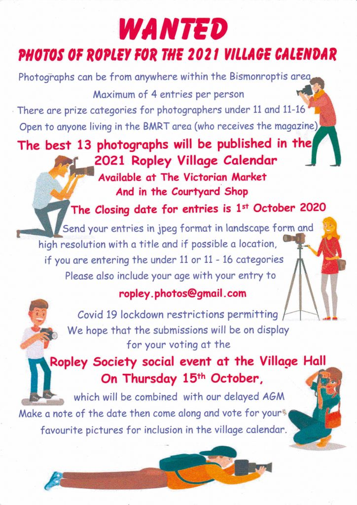 Ropley Society Photographic Competition - Closing Date @ n/a