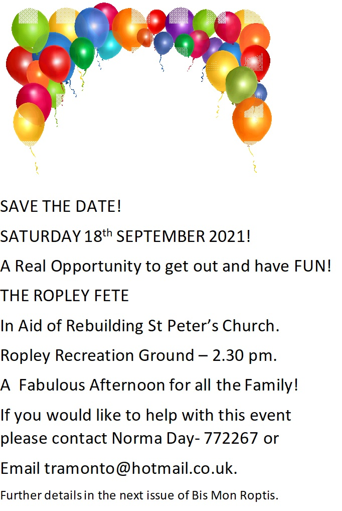 THE ROPLEY FETE @ Recreation Ground