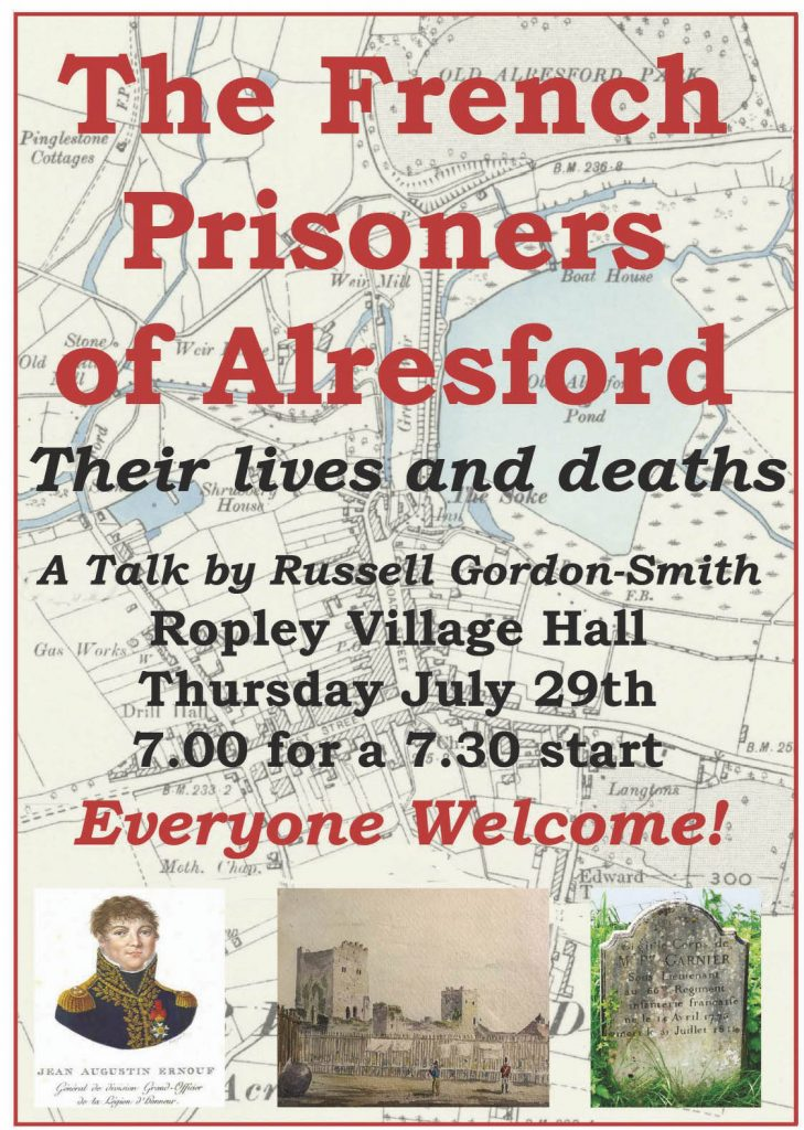 Ropley Society social event - French Prisoners of Alresford @ Parish Hall