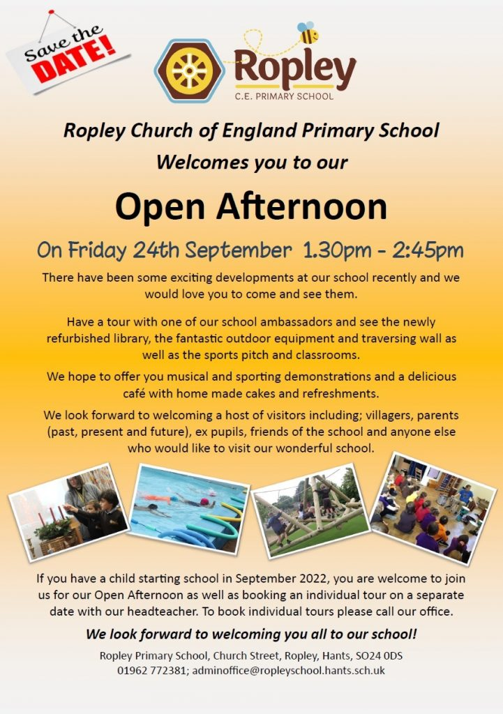 Open Afternoon @ Ropley Primary School